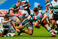 28th March 2021; Mattoli Woods Welford Road Stadium, Leicester, Midlands, England; Premiership Rugby, Leicester Tigers versus Newcastle Falcons; Ellis Genge of Leicester Tigers is brought down