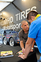 Kumho Tires Chris Armas. The men's national team of the United States (USA) was defeated by Ecuador (ECU) 1-0 during an international friendly at Red Bull Arena in Harrison, NJ, on October 11, 2011.