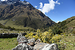 Salkantay trek to Machu Picchu. Trekking from May 17 to May 26 with National Geographic Adventures. Trip began in Cusco with overnights at the Mountain Lodges of Peru.