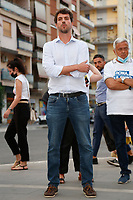 The candidate at the next  capitoline assembly, Nicola Bianchi at the Villa Gordiani south-east neighborhood of Rome.<br /> Rome (Italy), September 7th 2021<br /> Photo Samantha Zucchi Insidefoto