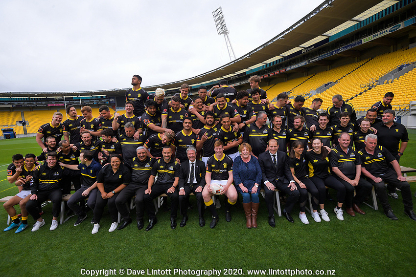 The 2020 Wellington Lions Mitre 10 Cup rugby team photo at Sky Stadium in Wellington, New Zealand on Friday, 13 November 2020. Photo: Dave Lintott / lintottphoto.co.nz