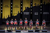 Team Lotto Soudal at the pre Tour teams presentation of the 108th Tour de France 2021 in Brest at le Grand Départ.<br /> <br /> 108th Tour de France 2021<br /> <br /> ©kramon