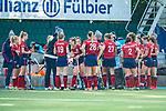 Mannheim, Germany, October 18: During the 1. Bundesliga women fieldhockey match between Mannheimer HC (red) and Uhlenhorst Muelheim (green) on October 18, 2020 at Am Neckarkanal in Mannheim, Germany. Final score 1-0 (HT 0-0). (Copyright Dirk Markgraf / www.265-images.com) ***