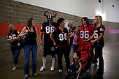 Houston, Texas<br /> October 2, 2011<br /> <br /> Friends and family of Houston Texas player James Casey in the back hallways of the stadium just before the game. <br /> <br /> The Houston Texans defeated the Pittsburgh Steelers at the Reliant Stadium, 17 to 10.