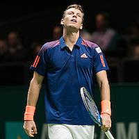 ABN AMRO World Tennis Tournament, Rotterdam, The Netherlands, 13 februari, 2017, Tomas Berdych (CZE)<br /> Photo: Henk Koster