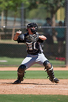 Chicago White Sox catcher Nate Nolan (30) prepares to make a throw to second base between innings of an Instructional League game against the Los Angeles Dodgers on September 30, 2017 at Camelback Ranch in Glendale, Arizona. (Zachary Lucy/Four Seam Images)
