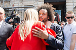 President of the community Cristina Cifuentes and Real Madrid's Marcelo leaves Seat of Government in Madrid, May 22, 2017. Spain.<br /> (ALTERPHOTOS/BorjaB.Hojas)