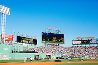 BOSTON, MASS. - SEPT. 28, 2014: Derek Jeter near shortstop for a ceremony honoring him before the New York Yankees and Boston Red Sox play at Fenway Park. The game is last game of Derek Jeter's career. M. Scott Brauer for The New York Times