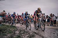 Oliver Naesen (BEL/AG2R-La Mondiale)<br /> <br /> 116th Paris-Roubaix (1.UWT)<br /> 1 Day Race. Compiègne - Roubaix (257km)