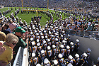 Sept. 27, 2008; Notre Dame band enters the stadium.