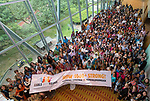 25 June, 2018, Kuala Lumpur, Malaysia : All participants line up for a group photo on the opening day at the Girls Not Brides Global Meeting 2018 at the Kuala Lumpur Convention Centre. Picture by Graham Crouch/Girls Not Brides  #GNB2018