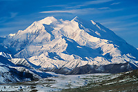 Mt. Denali, north and south peaks, Alaska Range, Denali National Park, Alaska