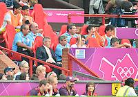 July 26, 2012..Uruguay head coach Oscar Tabarez. UAE vs Uruguay Football match during 2012 Olympic Games at Old Trafford in Manchester, England. Uruguay defeat United Arab Emirates 2-1...