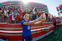 Santa Clara, CA - May 12, 2019:  The women's national teams of the United States (USA) and South Africa (RSA) play in an international friendly match at Levi's Stadium.