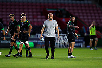 9th September 2020; Twickenham Stoop, London, England; Gallagher Premiership Rugby, London Irish versus Harlequins; Harlequins Head Coach Paul Gustard looks on during warm up