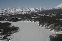 The Skwenta river and the Alaska Range on the way to Rainy Pass