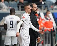 Mijat Gacinovic (TSG 1899 Hoffenheim) steht zur Einwechslung bereit<br /> - 03.10.2020: Fussball  Bundesliga, Saison 20/21, Spieltag 3, Eintracht Frankfurt vs. TSG 1899 Hoffenheim, emonline, emspor, v.l. Deutsche Bank Park<br /> Foto: Marc Schueler/Sportpics.de <br /> Nur für journalistische Zwecke. Only for editorial use. (DFL/DFB REGULATIONS PROHIBIT ANY USE OF PHOTOGRAPHS as IMAGE SEQUENCES and/or QUASI-VIDEO)