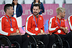 Mike Whitehead, Cody Caldwell, and Trevor Hirschfield, Lima 2019 - Wheelchair Rugby // Rugby en fauteuil roulant.<br />