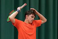 Wateringen, The Netherlands, March 9, 2018,  De Rijenhof , NOJK 12/16 years, Stijn Pel (NED)<br /> Photo: www.tennisimages.com/Henk Koster