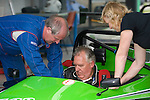 Peter Hain MP, the Secetary of State for Wales climbs into a MCR racing car as he officially launches Swansea Metropolitan University's new BSc (Hons) degree in Motorsport Technology at the Pembrey Motor Circuit in Llanelli today. Mr Hain took to the wheel of one the University's fleet of motorsport vehicles and drove a couple of laps at high speed around the circuit. He is pictured with Clive Hayes and Cindy Pearce who are both Directors of the MCR Racing Cars Company which is based in St Davids..