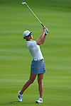 CHON BURI, THAILAND - FEBRUARY 18:  Michelle Wie of USA plays her second shot on the 17th hole during day two of the LPGA Thailand at Siam Country Club on February 18, 2011 in Chon Buri, Thailand. Photo by Victor Fraile / The Power of Sport Images