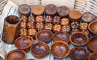 Essaouira, Morocco.  Boxes, Bowls, and Dice made from Thuya Wood.