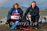 Sandra Fitzgibbon and Brian O'Flaherty launches Kerry Colleges scuba diving  instructors course in Fenit on Saturday morning.