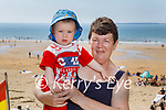 Enjoying the afternoon on Ballybunion beach on Sunday, l to r: DJ Murphy with his nan Margaret Murphy from Glin.