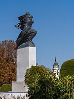 Büste, Festung Kalemegdan, Belgrad, Serbien, Europa<br /> bust  in the fortress Kalemegdan,  Belgrade, Serbia, Europe