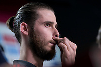 Spain coach David de Gea during press conference the day before Spain and Argentina match at Wanda Metropolitano in Madrid , Spain. March 26, 2018.  *** Local Caption *** © pixathlon<br /> Contact: +49-40-22 63 02 60 , info@pixathlon.de