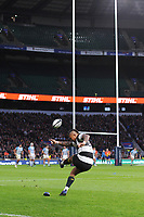 Elton Jantjies of Barbarians (Lions & South Africa) kicks a conversion attempt during the Killik Cup match between the Barbarians and Argentina at Twickenham Stadium on Saturday 1st December 2018 (Photo by Rob Munro/Stewart Communications)
