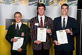 Boys Rowing finalists Antony Zouch, Sam Kember & Cameron Smith. ASB College Sport Young Sportperson of the Year Awards 2008 held at Eden Park, Auckland, on Thursday November 13th, 2008.