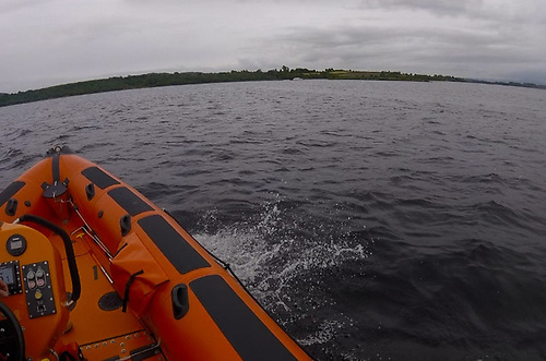 Lough Derg RNLI's inshore lifeboat on the water Tuesday evening 22 June