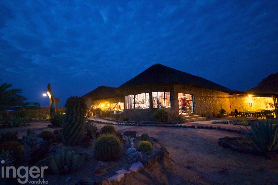 Tourist lodge at Brandberg, Namibia