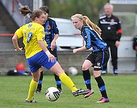 Club Brugge Dames - STVV Sint Truidense VV : Silke Demeyere en Marlies Verbruggen (l).foto DAVID CATRY / Nikonpro.be