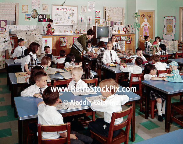 St. John Villa Academy, New York. Young children in grade school uniforms.