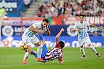 "Atletico de Madrid's player Nico Gaitán and Malaga CF Juan Carlos ""Juankar"" Perez during a match of La Liga Santander at Vicente Calderon Stadium in Madrid. October 29, Spain. 2016. (ALTERPHOTOS/BorjaB.Hojas)"