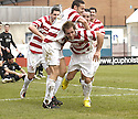 06/03/2010  Copyright  Pic : James Stewart.sct_jspa24_hamilton_v_aberdeen  .::  FLAVIO PAIXAO IS CONGRATULATED AFTER HE HEADS HOME THE OPENER  :: .James Stewart Photography 19 Carronlea Drive, Falkirk. FK2 8DN      Vat Reg No. 607 6932 25.Telephone      : +44 (0)1324 570291 .Mobile              : +44 (0)7721 416997.E-mail  :  jim@jspa.co.uk.If you require further information then contact Jim Stewart on any of the numbers above.........