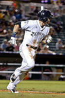 New Orleans Zephyrs second baseman Derek Dietrich (7) against the Albuquerque Isotopes in a game at Zephyr Field on May 28, 2015 in Metairie, Louisiana. (Derick E. Hingle/Four Seam Images)