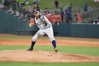 Southern Divisions pitcher Trey Cobb (26) of the Columbia Fireflies delivers a pitch during the South Atlantic League All Star Game at First National Bank Field on June 19, 2018 in Greensboro, North Carolina. The game Southern Division defeated the Northern Division 9-5. (Tony Farlow/Four Seam Images)