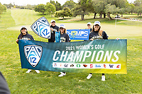 STANFORD, CA - APRIL 25: Alyaa Abdulghany, Allisen Corpuz, Brianna Navarrosa, Amelia Garvey, Malia Nam at Stanford Golf Course on April 25, 2021 in Stanford, California.