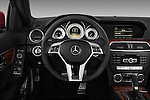 Steering wheel view of a 2013 Mercedes-Benz C250 Sport Sedan