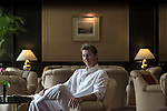8 October 2013, New Delhi, India. Recently retired Australian cricket star Brett Lee at The Oberoi Hotel in New Delhi. He is in India to show off his latest fashion lines and to foster greater interest in Australian - Indian business interactions.  Picture by Graham Crouch