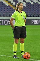 referee Michele Schmolzer pictured during a female soccer game between RSC Anderlecht Dames and Northern Irish Linfield Ladies  in the first qualifying round for the Uefa Womens Champions League of the 2020 - 2021 season , Wednesday 4 th of November 2020  in ANDERLECHT , Belgium . PHOTO SPORTPIX.BE | SPP | STIJN AUDOOREN