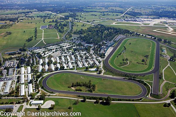 aerial photograph Keeneland, Blue Grass airport, LEX, Lexington, Kentucky