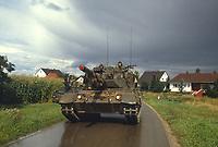 - NATO Exercises in Germany, Canadian Army Leopard tank in a village (October 1984)<br /> <br /> - Esercitazioni NATO in Germania, carri armati Leopard dell'Esercito Canadese in un villaggio (Ottobre 1984)