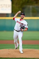 Rochester Red Wings pitcher Bryan Bonnell (27) during a game against the Worcester Red Sox on September 3, 2021 at Frontier Field in Rochester, New York.  (Mike Janes/Four Seam Images)