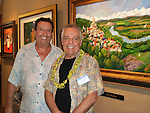 "Longtime friend, Lucien Charbonnier with Guy Buffet at Lahaina Galleries' 2009 luxury art event; ""The Art of Aloha"", held each January on Maui."