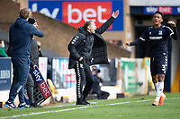 Mark Molesley, Manager, Southend United animated at the officials decisions during Southend United vs Exeter City, Sky Bet EFL League 2 Football at Roots Hall on 10th October 2020