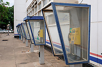 ZAMBIA, capital Lusaka, downtown, Cairo Road, postoffice with telephone booth